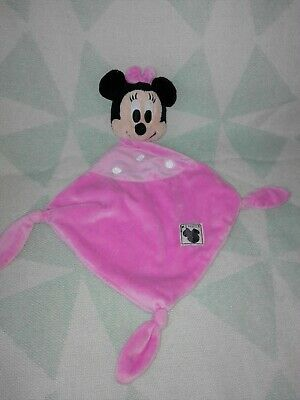 Doudou  Disney Minnie Plat Mouchoir Rose Simba