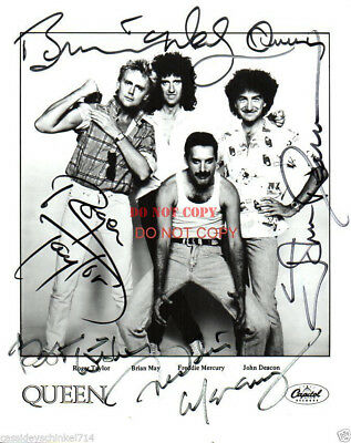 Queen Band Autographed 8x10 Photo Signed Reprint
