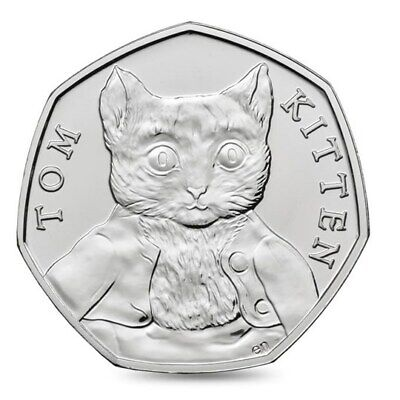 Beatrix Potter - Tom Kitten 50P Fifty Pence 2017 Excellent Condition