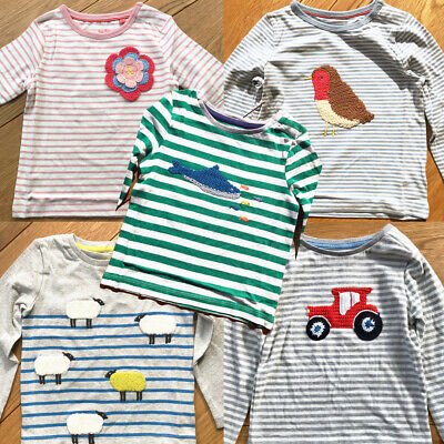 BABY BODEN CROCHET 5 DESIGNS Applique Boys/Girls Top 3 6 12 18 24 2-3-4 £22 Mini