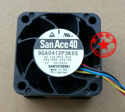 1pcs  Sanyo fan 9GA0412P3K05 4028 4cm 12v 0.92A 4-wire double ball cooling fan