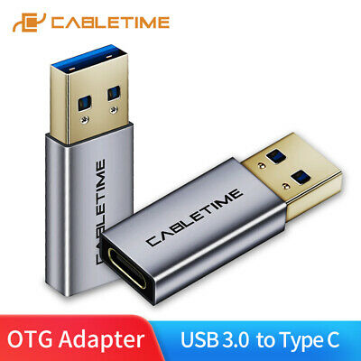Cabletime Usb C To USB Male Adapter Hi-Speed Usb C Female Type-C To USB A Male