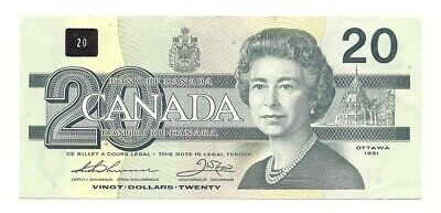 1991 Canada Twenty Dollar Bank Note