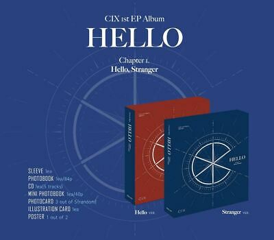 CIX 1st EP ALBUM HELLO Chapter 1 CD + 3 PHOTOCARD + FOLDED POSTER SEALED