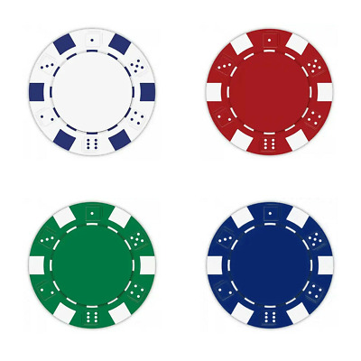 NEW 200 Piece Striped Dice 11.5 Gram Poker Chips Bulk Mix and Match Colors