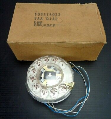 Vintage WESTERN ELECTRIC 102315033 8AA / Rotary Dialer - White w/ Brown Numbers