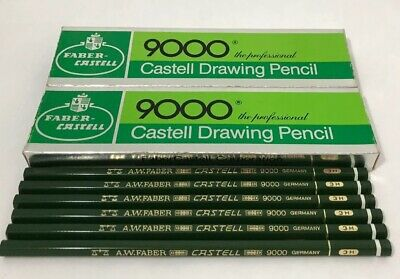 30 VIntage FABER CASTELL 9000-3H Professional DRAWING ART PENCILS Germany