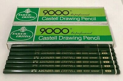 30 VIntage FABER CASTELL 9000-2H Professional DRAWING ART PENCILS Germany