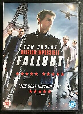 Mission Impossible Fallout Dvd 2018 (Tom Cruise) As Good As New Mint Condition