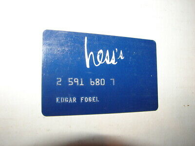 Hess's Department Store Vintage Credit Card Hess Brothers Allentown, Pa