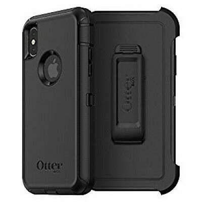 Otterbox Defender Iphone X and Xs only black with belt clip