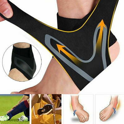 ADJUSTABLE ELASTIC ANKLE SLEEVE Elastic Ankle Brace Foot-Support Sports Gua W5W8
