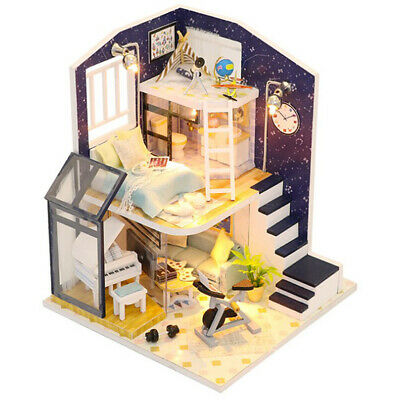 Doll House DIY With Furniture and Accessories 1:24 Toy Gifts -Shining Star
