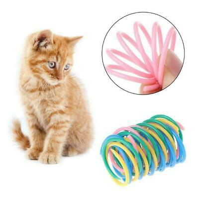 5pcs Cute Toys Colorful Spring Bounce Plastic Kitten Random Interactive Col P5N2