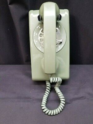 Vintage Stromberg Carlson Green Rotary Dial Wall Telephone, Needs Input Wire -35
