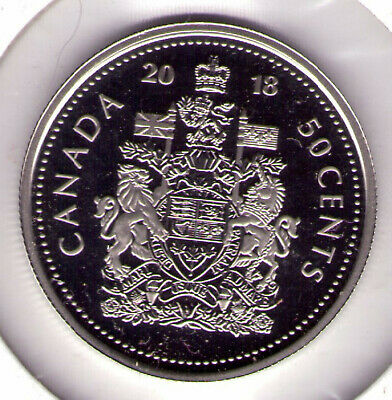 "2018 Canada Proof Alloy 50 cent Coat of Arms ""Only 15,000 Minted"""