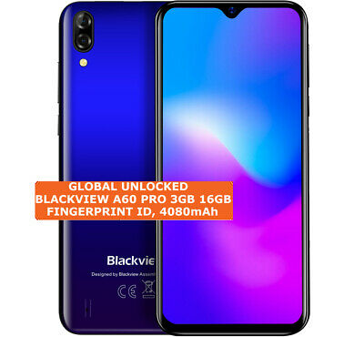 """Blackview A60 Pro Android 9.0 MTK6761 4080mAh Quad Core 6.088"""" 3+16GB Touch ID"""