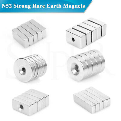 N52 Super Strong Magnets Rare Earth NdFeB Neodymium Magnets Block Disc