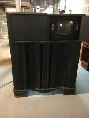 Vintage Zenith Tube Console Radio 1948 Working Condition