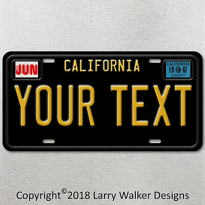 California Vintage Look Your Text License Plate Tag Car Pick Up Truck Gift New