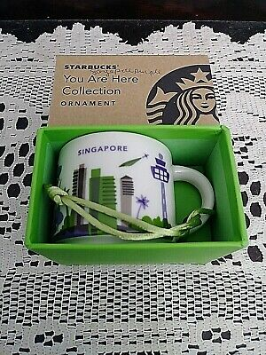 Starbucks Singapore 2017 Orchid You Are Here YAH Ornament Mini Demi 2oz Mug NIB