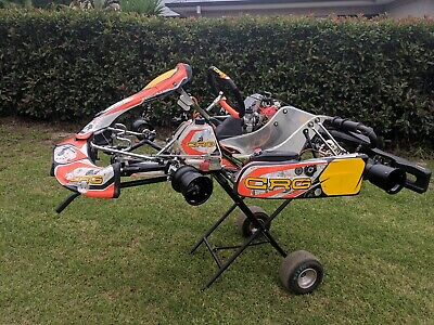 New Racing Kart CRG KT2 with Race tuned Rotax 125 Evo Max. Great Condition