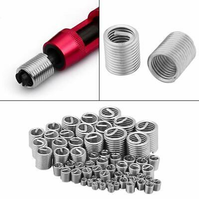 60Pcs x  Practical Stainless Steel Wire Screw Sleeve Thread Repair Accessories