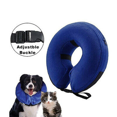 Inflatable Collar Dog Cat Soft E-Collar Pet Puppy Medical Protect Neck Head Cone
