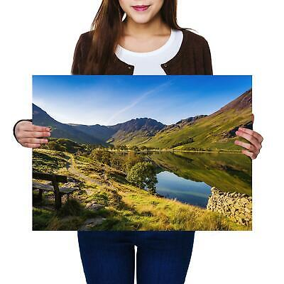 A2 | Buttermere Lake District England Size A2 Poster Print Photo Art Gift #12503