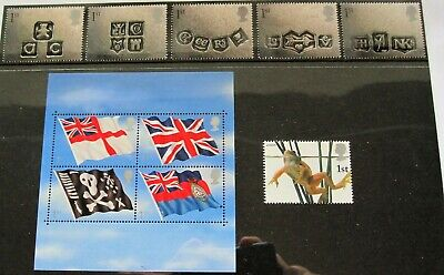 10 First Class postage stamps for the price of 9. Postage free. Flags and frog