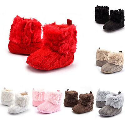Infant Baby Boy Girl Warm Snow Boots Toddler Soft Shoes Booties 11-13CM lovely