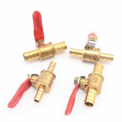 6mm-12mm Hose Brass Water Oil Air Gas Fuel Line Shutoff Ball Valve Pipe Fittings