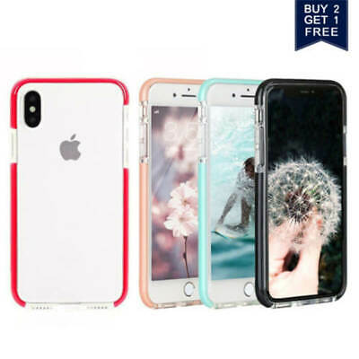 For i Phone 8Plus X XS Max XR Clear Back Shockproof Bumper Protective Cover Case