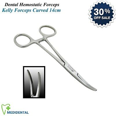 Dentistry Surgical Hemostat Kelly Clamp Forceps Curved 14cm Laboratory Tools NEW