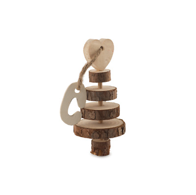 Ancol Just 4 Pets WOODEN RING TREE GNAW Rabbit Guinea Pig Hamster Gerbil Mouse