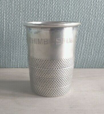 Misurino Whisky Argento 800 Solid Silver Vintage Liquor Jigger Cup Shot Glass