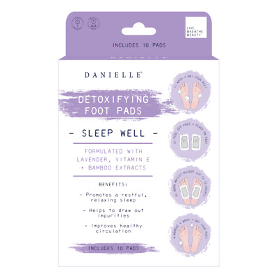 Sleep Well Natural Detoxifying Foot Pads with Lavender, Vit E & Bamboo Extract