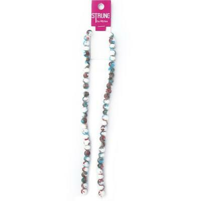 NEW Ribtex Strung Round Marble Beads By Spotlight