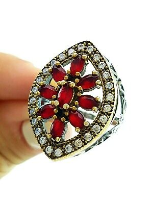 Turkish Ottoman Jewellery From Grand Bazaar Istanbul Antique Silver Ring R1538