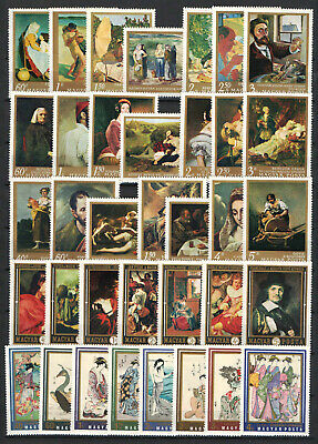Hungary 1967-1971. 5 complete paintings sets topical stamp collection MNH (**)