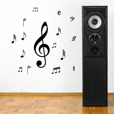MUSIC NOTES wall stickers bedroom living room den wall decals
