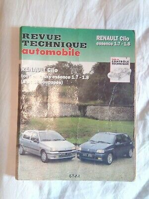 Revue technique automobile RTA Renault Clio 1.7 RT . 1.8 RT . Baccara.16S n° 546