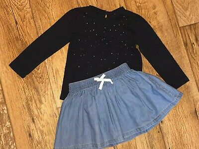 Gorgeous Osh Kosh Skirt & Top outfit age 2T Stunning