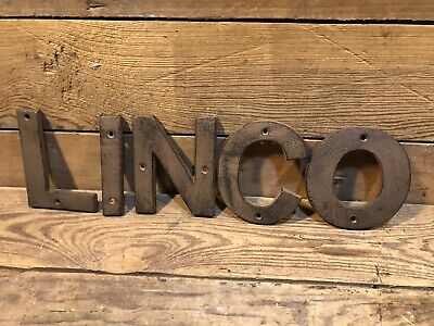 Cast Iron Linco Gulf Sign Gas Pump Visible Oil Can Shell Porcelain Red Crown