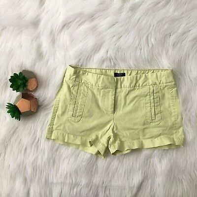 J Crew Womens Shorts Size 0 Frankie Chino Lime Green Stretch Cotton Blend #13663