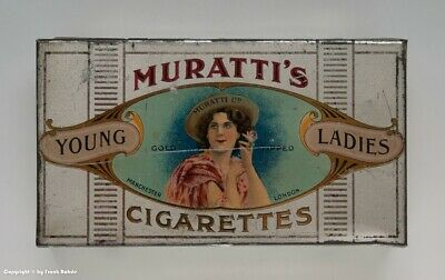 Blechdose MURATTI`S YOUNG LADIES CIGARETTES...GOLD 100 TIPPED wohl um 1910
