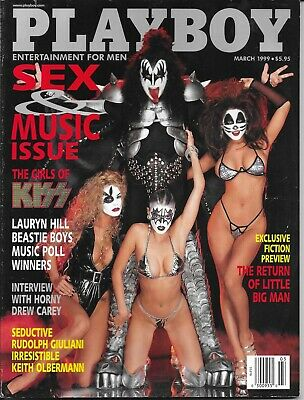 Playboy Magazine-Vintage-March 1999-Kiss Cover-Good Conditio-Free Ship In Canada