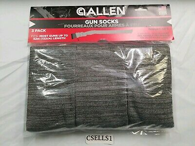 """Allen Gray Soft Knit 52"""" Silicone Treated Gun Sock *3 Pack* *13130*"""