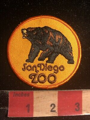 Vintage Brown Bear Grizzly Bear Of The SAN DIEGO ZOO California Patch 83E
