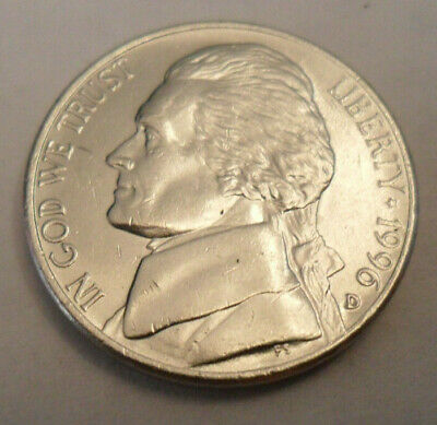 1996 D Jefferson Nickel  ~ Uncirculated Coin in the Original Mint Cello